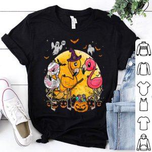 Nice Flamingo Lover Funny Pumpkin Halloween Party shirt