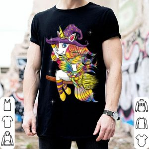 Official Funny Halloween Outfit Gift - Flying Unicorn Witch shirt