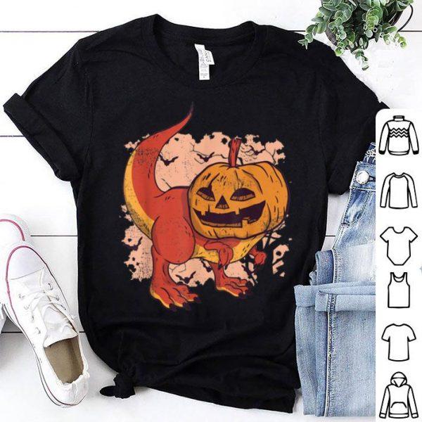 Official Pumpkin Head Dinosaur Jack O Lantern Halloween shirt