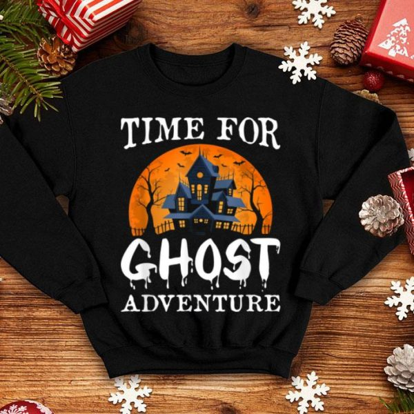 Official Time For Ghost Adventure Funny Halloween Party Costume Gift shirt