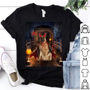 Original Happy Halloween German Shepherd lover Funny Dog Devil shirt
