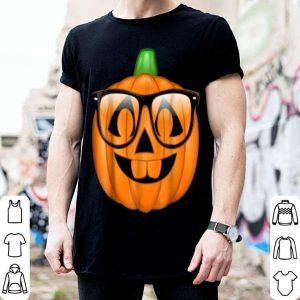 Premium Nerdy Pumpkin Emoji Nerd Glasses Halloween shirt