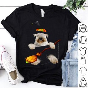 Premium Soft Coated Wheaten Terrier Witch Pocket Halloween Dog shirt