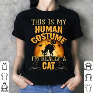 Premium This Is My Human Costume I'm Really A Cat Funny Halloween shirt
