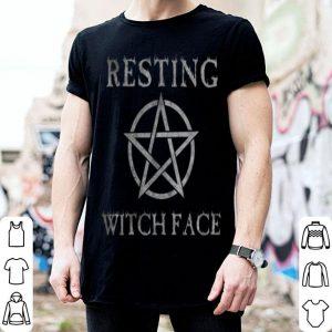 Resting Witch Face Funny Halloween Pentagram Vintage shirt