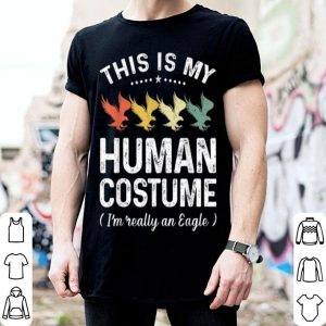 This Is My Human Costume Vintage Eagle Halloween shirt