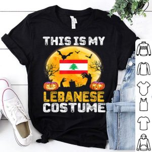 This Is My Lebanese Flag Costume Halloween Lebanon shirt