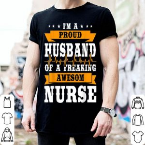 Top Proud Husband Of A Freaking Awesome Nurse Halloween shirt