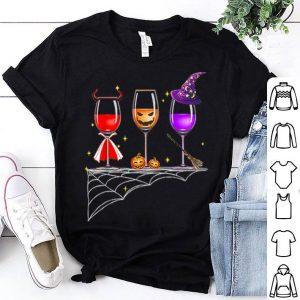 Wine Glasses Halloween Funny shirt