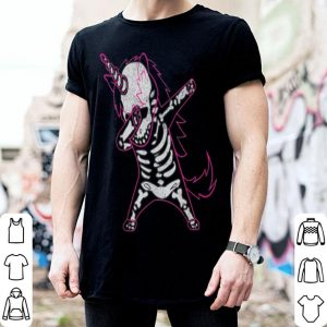 Awesome Dabbing Unicorn Skeleton Halloween Costume Men Women Gift shirt