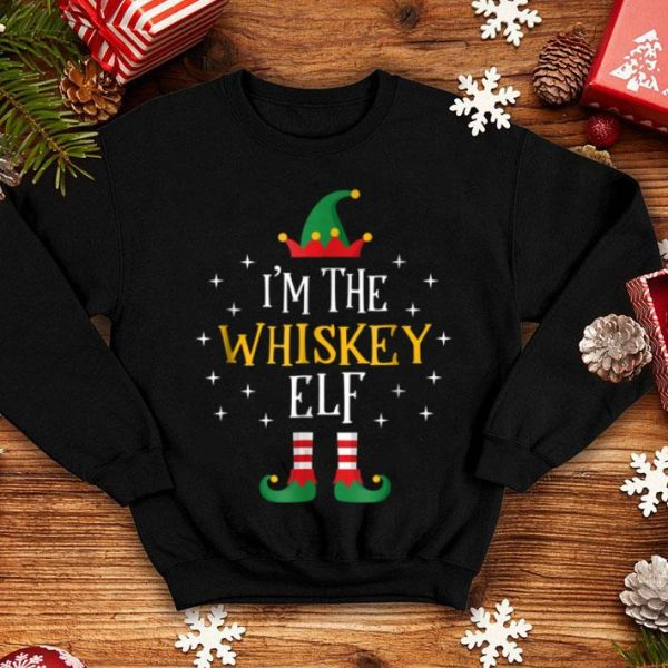 Awesome I'm The Whiskey Elf Funny Xmas Gift Family Group shirt