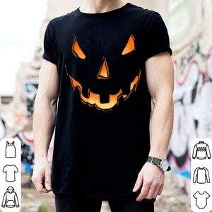 Awesome Jack O Lantern Halloween Pumpkin Face Costume Women shirt