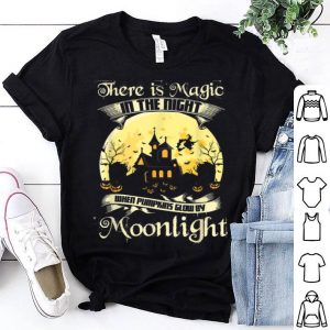 Awesome Magic In Night When Pumpkins Glow By Moonlight Halloween shirt