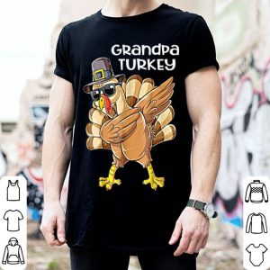Awesome Mens Grandpa Turkey Funny Dabbing Turkey Thanksgiving shirt