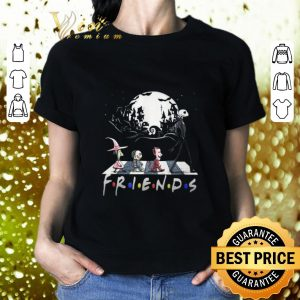 Awesome Nightmare Before Christmas characters Friends Abbey Road shirt