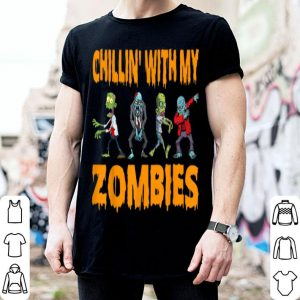 Beautiful Cool Chillin With My Zombies Halloween Costume Gifts shirt