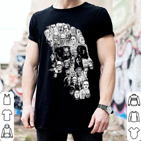 Beautiful Pile Of Psychopaths Serial Killers Skull Halloween Gift shirt