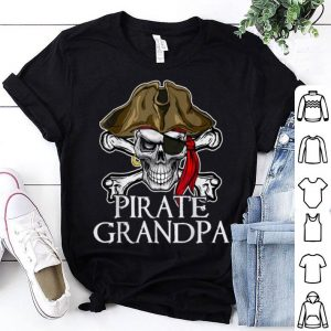 Beautiful Pirate Grandpa Halloween Costume Pirate Skull Funny shirt
