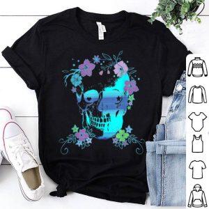Beautiful Skull and Flowers, Halloween, Rave, Concert shirt