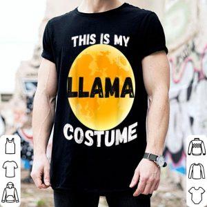 Beautiful This is my Human Costume I'm really a Llama tee Halloween shirt