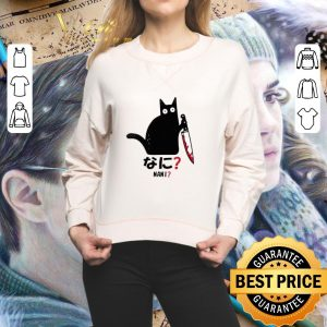 Cheap Cat nani black cat with knife shirt