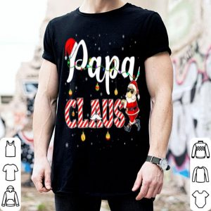 Funny Cute Christmas Papa Santa Hat Gift Matching Family Xmas shirt