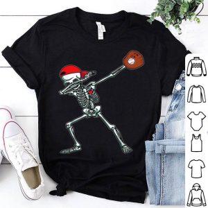 Funny Dabbing Skeleton Baseball Funny Halloween Gift Boys shirt