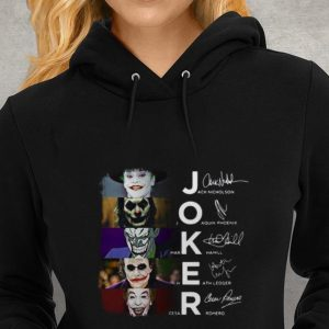 Hot Joker Jack Nicholson Joaquin Phoenix Mark Hamill Heath Ledger Cesar Romero shirt