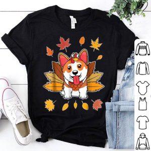 Hot Turkey Pilgrim Riding Corgi Dog Costume Lovely shirt