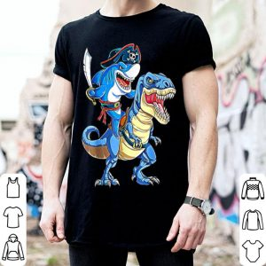 Hot pirate shark dinosaur halloween costume gift shirt