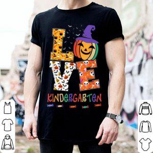 Nice Halloween Love Kindergarten Pumpkin Teacher Gift shirt