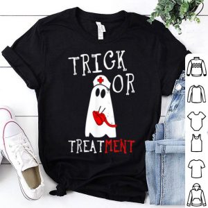 Nice Trick or Treatment Respiratory Therapist ghost Halloween shirt