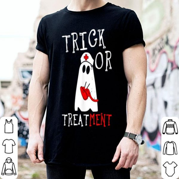 Nice Trick or Treatment Respiratory Therapist ghost Halloween shirt