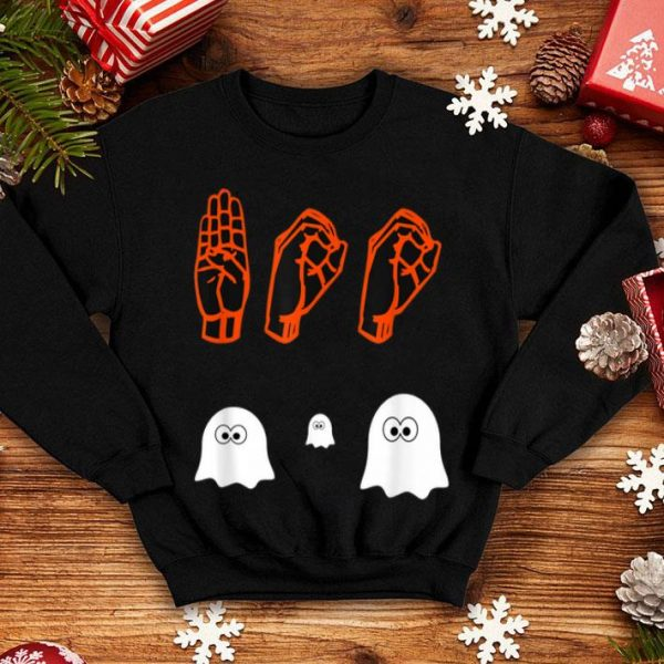 Official ASL Boo Halloween, Ghost Boo, Sign Language Gifts shirt