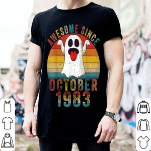 Official Awesome Since October 1983 Birthday Gift Boo Ghost Halloween shirt