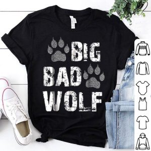 Official Big Bad Wolf Paw Print Halloween Costume shirt