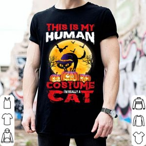Official Cat Funny Halloween For Boys Girls Kids Adults shirt