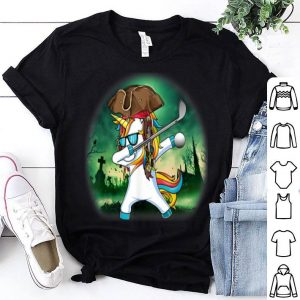 Original Dabbing Pirate Unicorn Golf Halloween Gift shirt