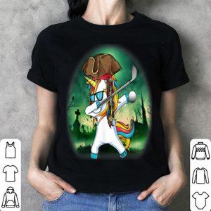 Original Dabbing Pirate Unicorn Golf Halloween Gift shirt