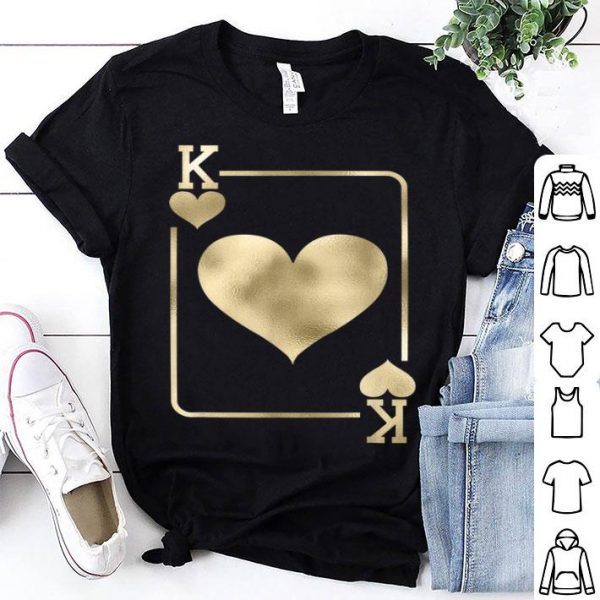 Original King of Hearts Playing Card Halloween Costume shirt