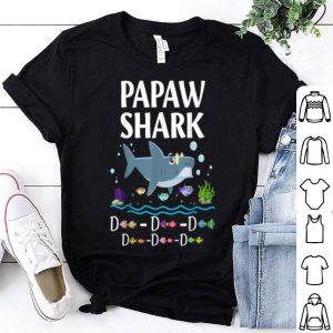 Original Papaw Shark Father Grandpa Halloween Christmas shirt