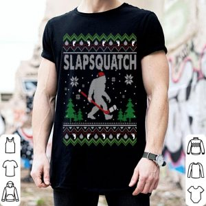 Original Ugly Christmas Hockey Sasquatch Bigfoot Slapsquatch Gift shirt