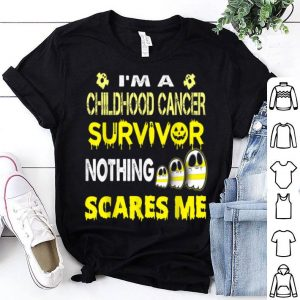 Original childhood cancer halloween nothing scares me shirt