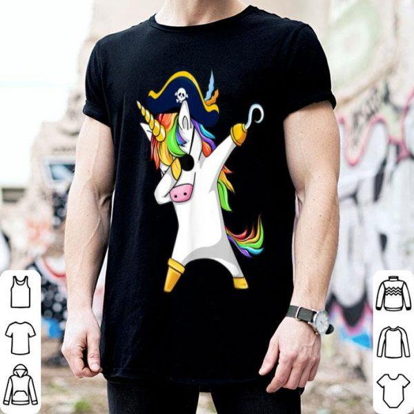 Premium Dabbing Unicorn Pirate Halloween Costume Gift shirt