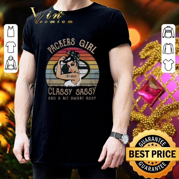 Premium Green Bay Packers girl classy sassy and a bit smart assy vintage shirt