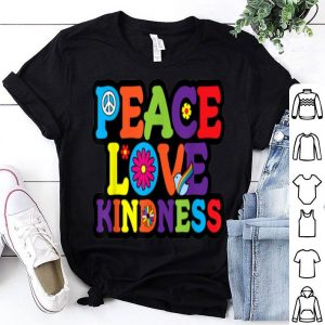 Premium HIPPIE PEACE LOVE KINDNESS Tie Dye Halloween Costume shirt