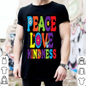 Premium HIPPIE PEACE LOVE KINDNESS Tie Dye Halloween Costume shirt