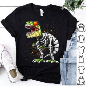 Premium Halloween T Rex Dinosaur Skeleton Costume Gift Boys shirt