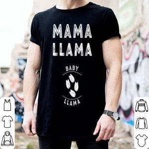 Top Cute Pregnancy Announcement Mama Llama Christmas Gift shirt
