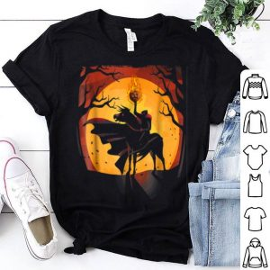 Top Headless Knight Flaming Pumpkin Halloween shirt